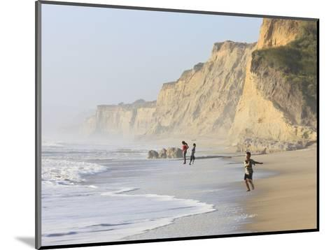 Kids Playing on Beach, Santa Cruz Coast, California, USA-Tom Norring-Mounted Photographic Print
