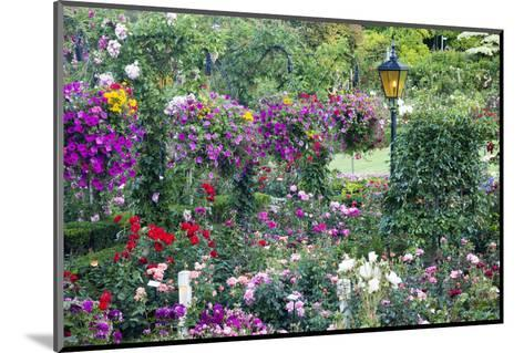 Butchart Gardens in Full Bloom, Victoria, British Columbia, Canada-Terry Eggers-Mounted Photographic Print