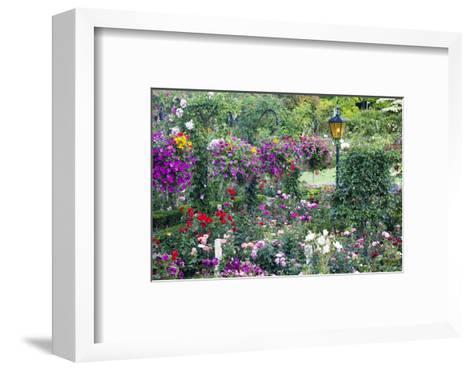 Butchart Gardens in Full Bloom, Victoria, British Columbia, Canada-Terry Eggers-Framed Art Print