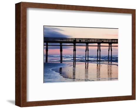 Sunset Beach Pier at Sunrise, North Carolina, USA--Framed Art Print