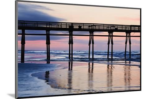 Sunset Beach Pier at Sunrise, North Carolina, USA--Mounted Photographic Print