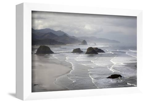 Cannon Beach and Haystack Rock, Crescent Beach, Ecola State Park, Oregon, USA-Jamie & Judy Wild-Framed Art Print