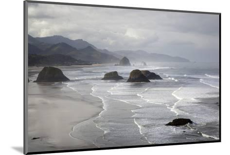 Cannon Beach and Haystack Rock, Crescent Beach, Ecola State Park, Oregon, USA-Jamie & Judy Wild-Mounted Photographic Print