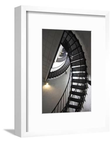 Stairs to the Top of the Saint Augustine Lighthouse, Florida, USA-Joanne Wells-Framed Art Print