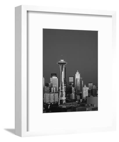Space Needle at Dusk, Seattle, Washington, USA-Adam Jones-Framed Art Print