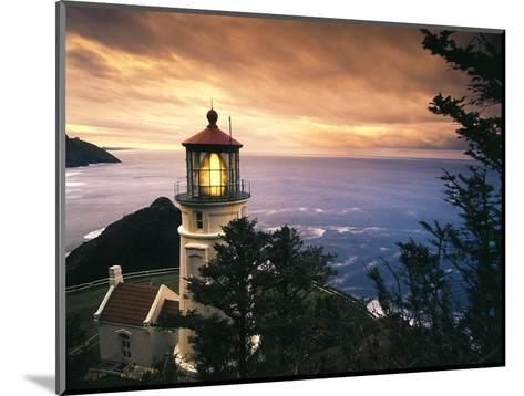 View of Heceta Head Lighthouse at Sunset, Oregon, USA-Stuart Westmorland-Mounted Photographic Print