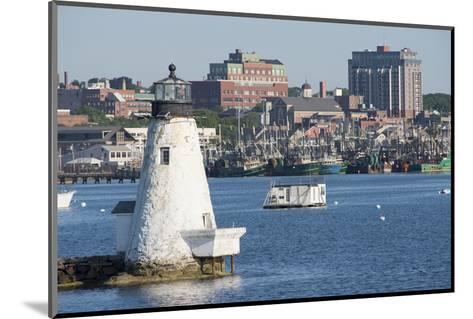 Fishing Boats, Palmer Island Lighthouse, New Bedford Harbor, Massachusetts, USA-Cindy Miller Hopkins-Mounted Photographic Print
