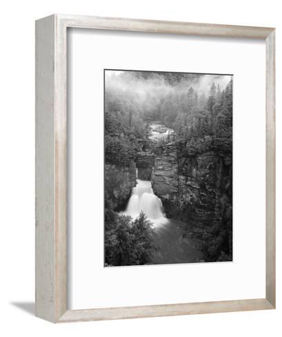 Linville Falls, Linville Gorge, Pisgah National Forest, North Carolina, USA-Adam Jones-Framed Art Print