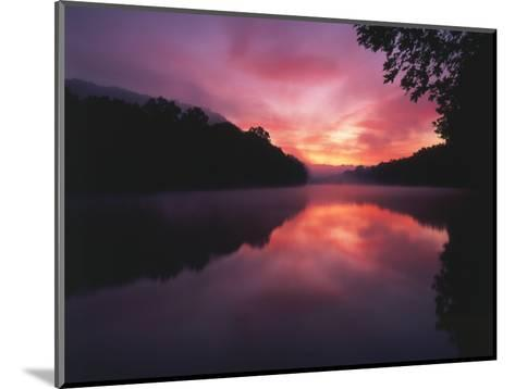 Steaming Kentucky River at Sunrise, Kentucky, USA-Adam Jones-Mounted Photographic Print