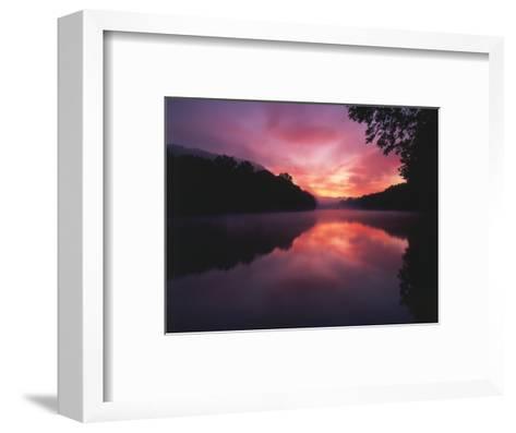 Steaming Kentucky River at Sunrise, Kentucky, USA-Adam Jones-Framed Art Print