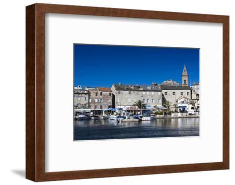 Port View of St-Florent, Le Nebbio, Corsica, France-Walter Bibikow-Framed Art Print