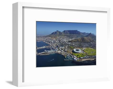 Aerial of Stadium,Waterfront, Table Mountain, Cape Town, South Africa-David Wall-Framed Art Print
