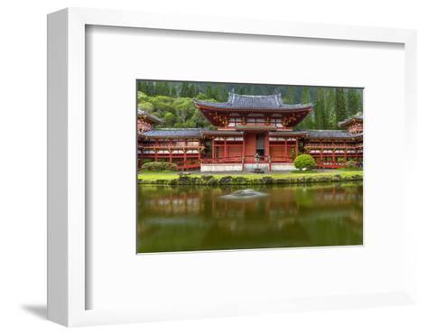 Byodo-In Buddhist Temple, Kaneohe, Oahu, Hawaii, USA-Charles Crust-Framed Art Print