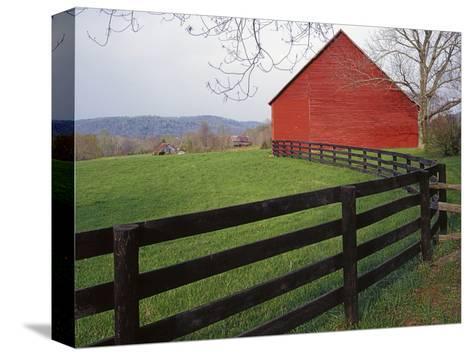 Barn Near Etlan, Virginia, USA-Charles Gurche-Stretched Canvas Print