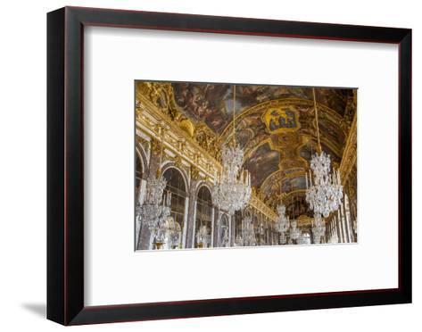 The Hall of Mirrors, Chateau de Versailles, France.-Brian Jannsen-Framed Art Print