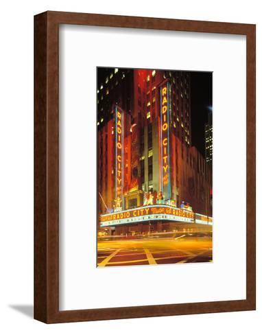 Radio City Music Hall, Manhattan, New York, USA-Peter Bennett-Framed Art Print