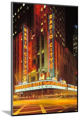 Radio City Music Hall, Manhattan, New York, USA-Peter Bennett-Mounted Photographic Print