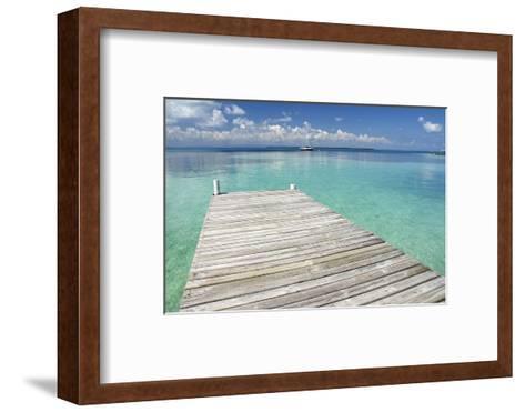 Pier over Clear Waters, Southwater Cay, Stann Creek, Belize-Cindy Miller Hopkins-Framed Art Print