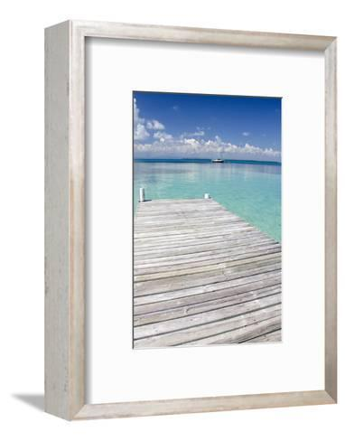 Pier over Clear Waters, Southwater Cay, Stann Creek, Belize-Cindy Miller Hopkins-Framed Art Print