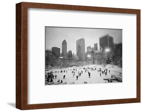 USA, New York, New York City, Skaters at the Wollman Rink-Walter Bibikow-Framed Art Print