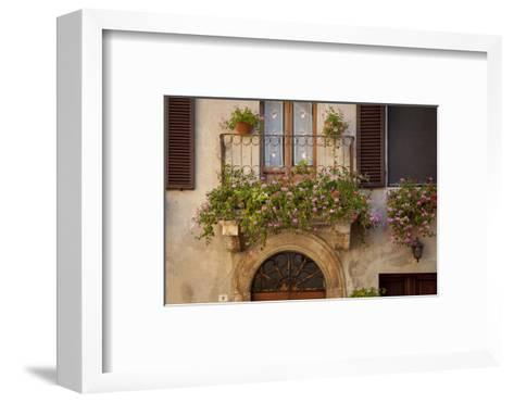 Flowers on Home in Piezna, Tuscany, Italy-Brian Jannsen-Framed Art Print