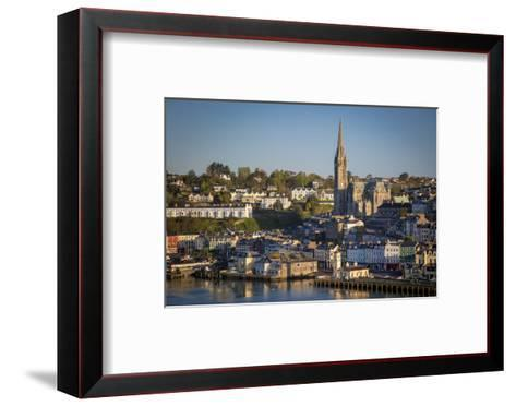 St. Coleman Church and Harbor Town of Cobh, County Cork, Ireland-Brian Jannsen-Framed Art Print