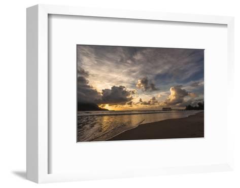 Sunset in Hanalei Bay, Kauai-Andrew Shoemaker-Framed Art Print