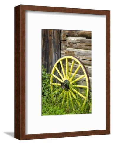 Wagon Wheel in Old Gold Town Barkersville, British Columbia, Canada-Michael DeFreitas-Framed Art Print