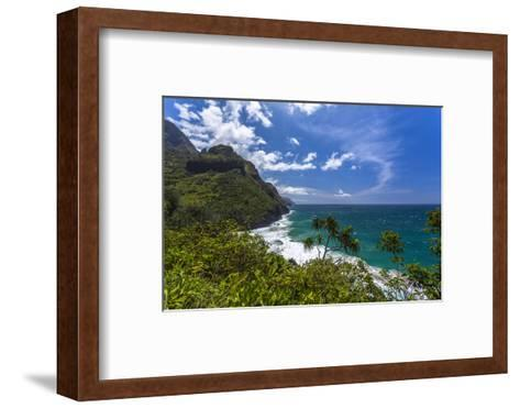 A View of the Na Pali Coast from the Kalalau Trail-Andrew Shoemaker-Framed Art Print