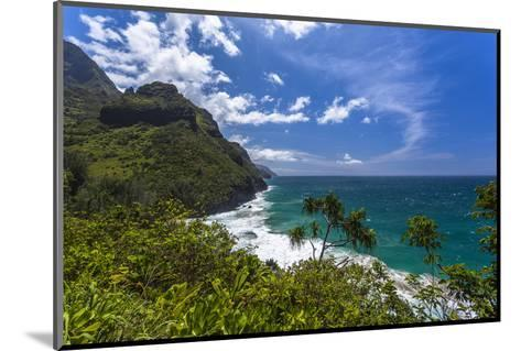 A View of the Na Pali Coast from the Kalalau Trail-Andrew Shoemaker-Mounted Photographic Print