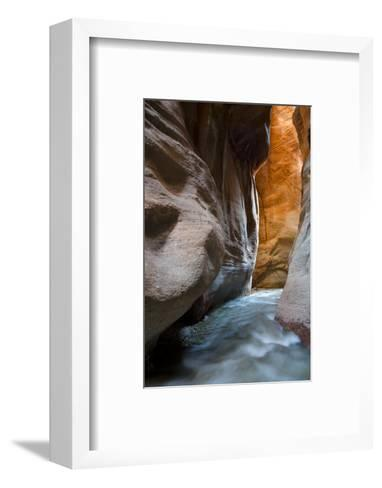 Slot Canyon Just North of Kolob Canyon, St. George, Zion NP, Utah-Howie Garber-Framed Art Print