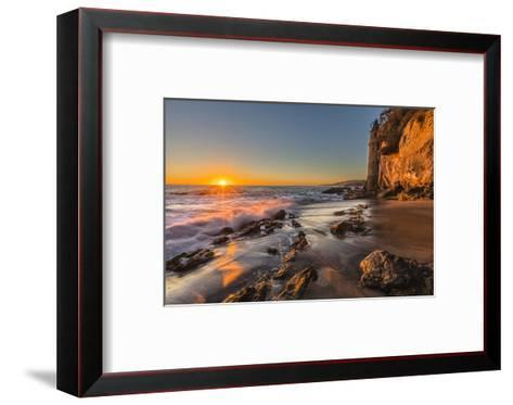 Sunset at Victoria Beach in Laguna Beach, Ca-Andrew Shoemaker-Framed Art Print