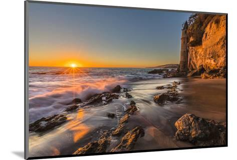 Sunset at Victoria Beach in Laguna Beach, Ca-Andrew Shoemaker-Mounted Photographic Print