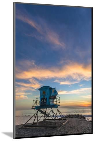 Lifeguard Stand at Sunset in Carlsbad, Ca-Andrew Shoemaker-Mounted Photographic Print