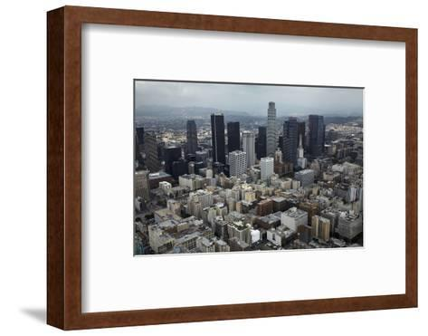 Aerial View. of Downtown Los Angeles-David Wall-Framed Art Print