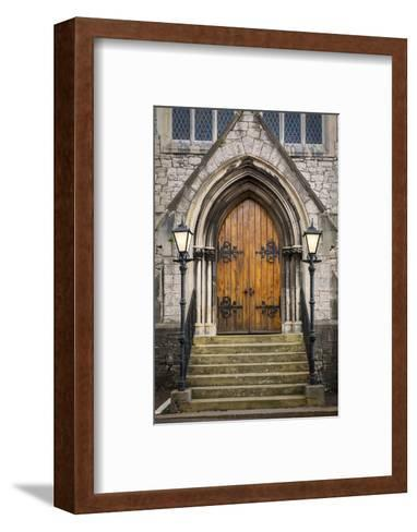 Wooden Doors at Entrance to Trinity Presbyterian Church, Cork, Ireland-Brian Jannsen-Framed Art Print