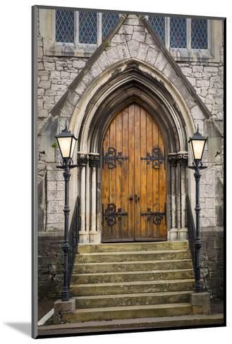 Wooden Doors at Entrance to Trinity Presbyterian Church, Cork, Ireland-Brian Jannsen-Mounted Photographic Print