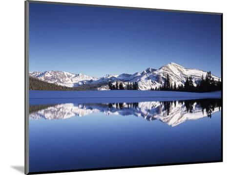 California, Sierra Nevada, Yosemite National Park, Mammoth Peak Reflect in a Tarn-Christopher Talbot Frank-Mounted Photographic Print