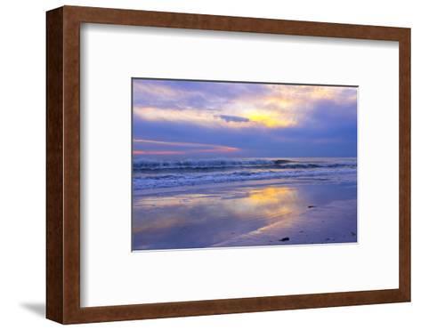 Florida, Sarasota, Crescent Beach, Siesta Key, Sunset over Ocean-Bernard Friel-Framed Art Print