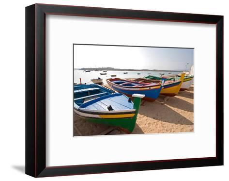 Colorful Fishing Boats of Alvor, Portugal, Europe-Susan Degginger-Framed Art Print