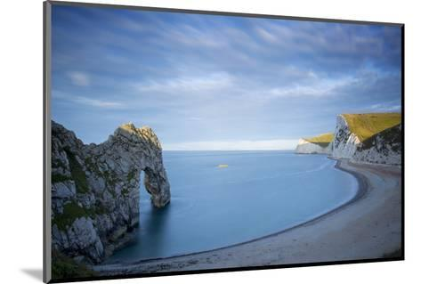 Sunrise over Durdle Door and the Jurassic Coast, Dorset, England-Brian Jannsen-Mounted Photographic Print