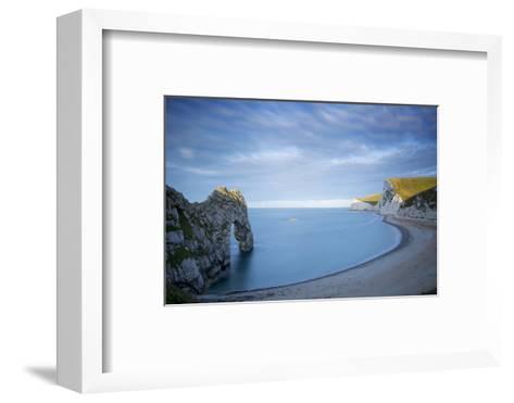 Sunrise over Durdle Door and the Jurassic Coast, Dorset, England-Brian Jannsen-Framed Art Print