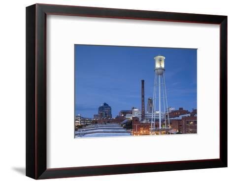 North Carolina, Durham, American Tobacco and City Center Complex, Dusk-Walter Bibikow-Framed Art Print