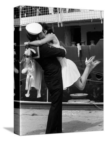 The Kiss--Stretched Canvas Print
