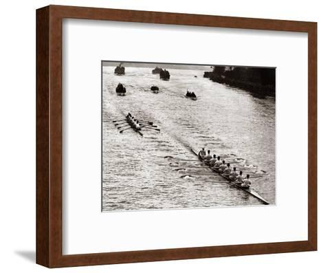 Rowing, Oxford V Cambridge Boat Race, 1928--Framed Art Print