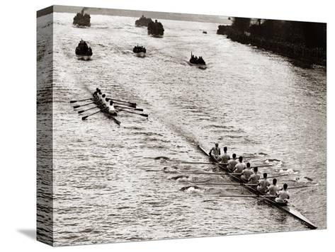 Rowing, Oxford V Cambridge Boat Race, 1928--Stretched Canvas Print