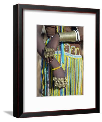 Finery of a Datoga Woman, Tanzania-Nigel Pavitt-Framed Art Print