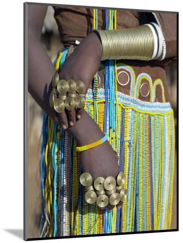Finery of a Datoga Woman, Tanzania-Nigel Pavitt-Mounted Photographic Print