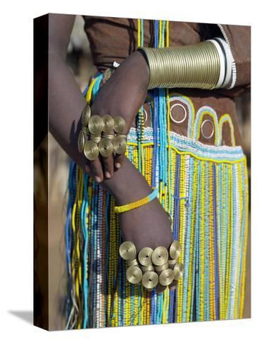 Finery of a Datoga Woman, Tanzania-Nigel Pavitt-Stretched Canvas Print
