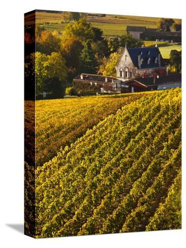 France, Aquitaine Region, Gironde Department, St-Emilion, Wine Town, Unesco-Listed Vineyards-Walter Bibikow-Stretched Canvas Print